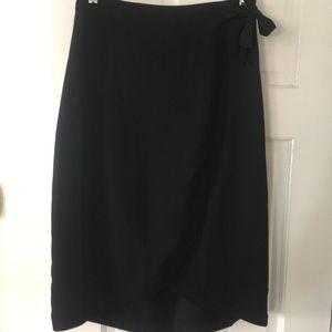 NWT J Crew High Low Black Skirt